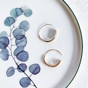 Stella & Dot Dome Hoop Earrings